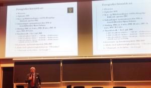 Ikke akkurat noen visuell nytelse denne presentasjonen som Erland Kolding Nielsen fra Det Kongelige Bibliotek presenterte.