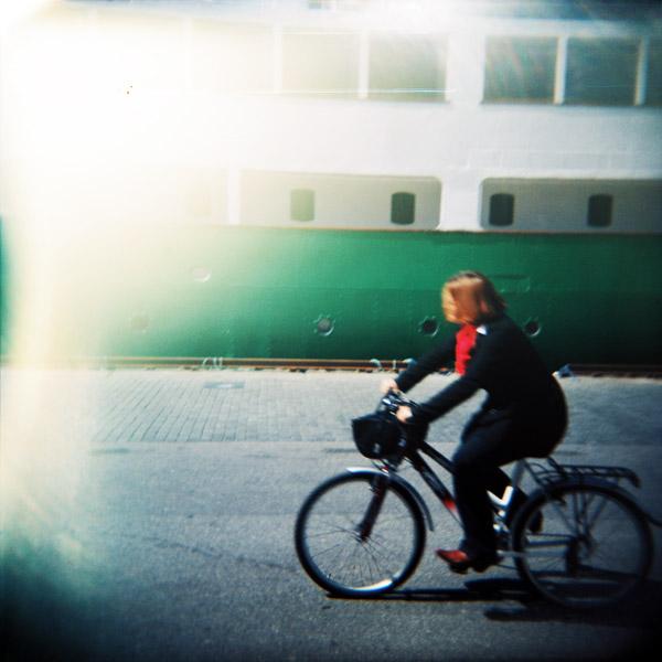 Mary Miller på sykkel