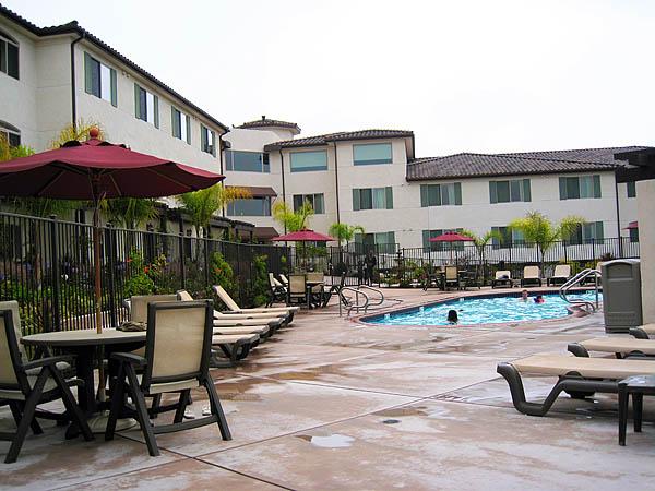 Vi bodde på The Mission Inn i Pismo Beach. Ikke billig, men helt greit hotell.