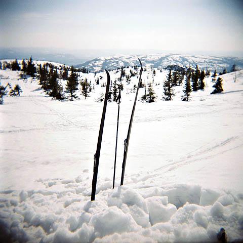 På skitur i påsken